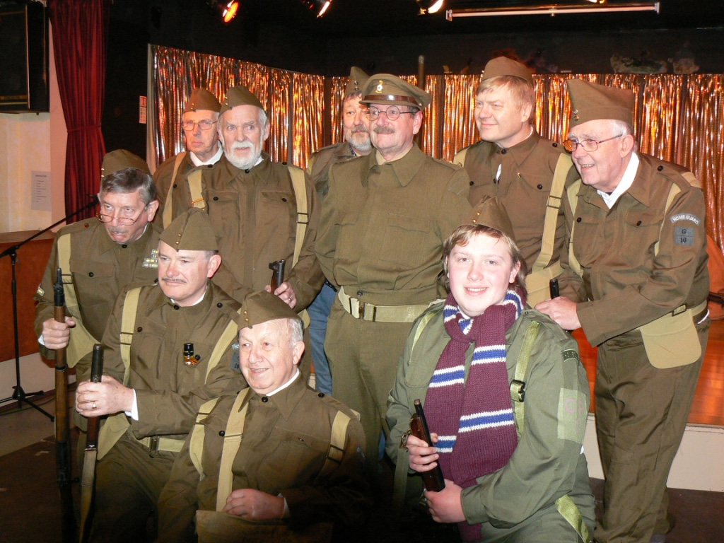 Dad's Army Troop on parade for second time.