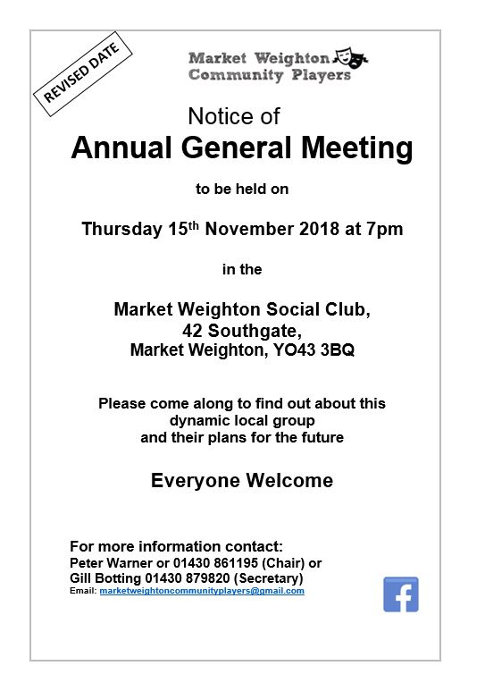 AGM 2018 Revised Date